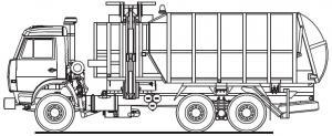9650. Коэффициент уплотнения мусора. гидравлический.  20500. Рабочее давление в гидросистеме, МПа. на переднюю ось...